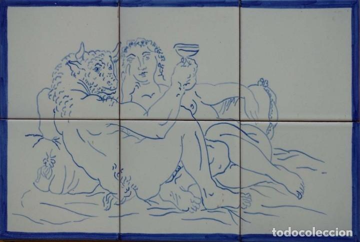 MINOTAURO DE PICASSO (Antigüedades - Porcelanas y Cerámicas - Azulejos)