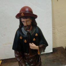 Antigüedades: FIGURA DE SAN ROQUE MEDIDAS 44 CM. Lote 175112487