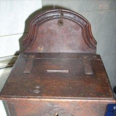 Antigüedades: MUY ANTIGUO LIMOSNERO.BUEN CARACTER Y PATINA.. Lote 175122444