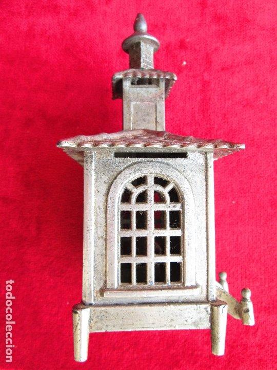 Antigüedades: HUCHA BANCO DESMONTABLE EN ACERO. CIRCA 1890 - Foto 4 - 175128957