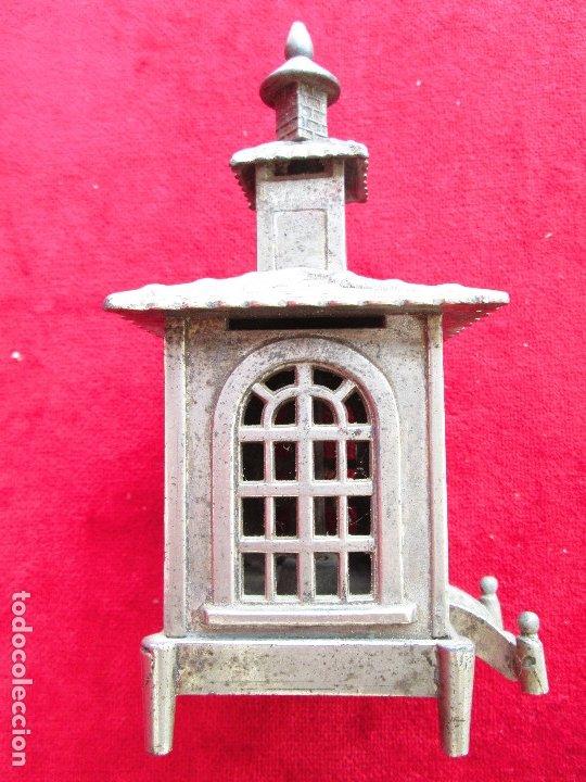 Antigüedades: HUCHA BANCO DESMONTABLE EN ACERO. CIRCA 1890 - Foto 5 - 175128957
