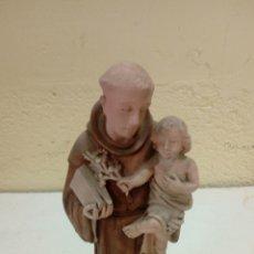 Antigüedades: EXCELENTE SAN ANTONIO DE ESTUCO MEDIDAS 32 CM. Lote 175141339