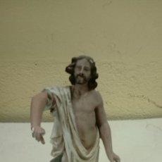 Antigüedades: EXCELENTE SANTO DE ESTUCO MEDIDAS 33. Lote 175144089