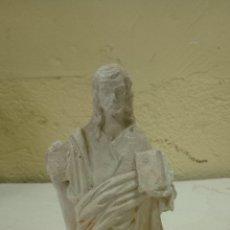 Antigüedades: EXCELENTE SANTO DE ESTUCO MEDIDAS 19 CM . Lote 175155315