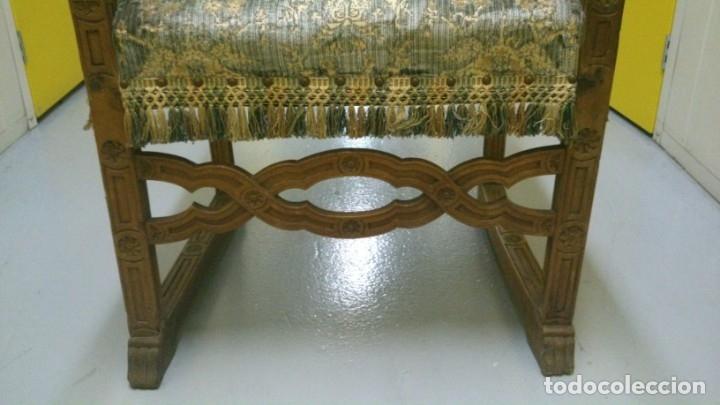 Antigüedades: Sillón Frailero S. XVII en nogal tallado - Foto 4 - 175183059