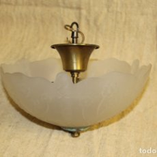 Antigüedades: LAMPARA DE TECHO CON TULIPA. Lote 175186325