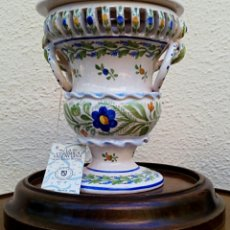 Antigüedades: GIMENO MARTINEZ. ALBAHAQUERA DE CERAMICA DE MANISES.. Lote 175196378