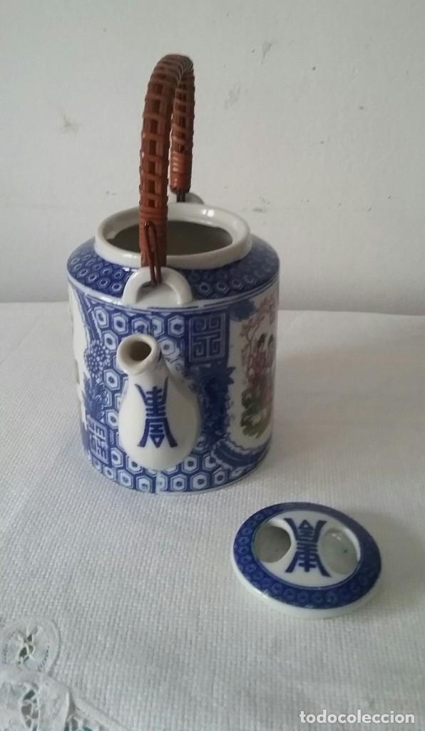 Antigüedades: TETERA CERAMICA JAPONESA.CON ASA DE MADERA.AÑOS 80 - Foto 3 - 175217999