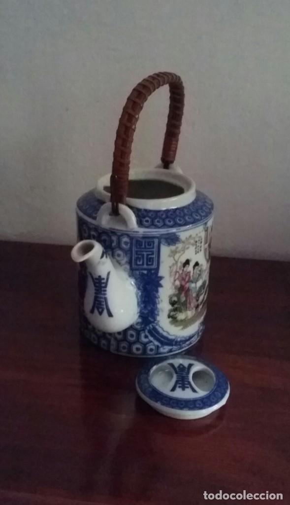 Antigüedades: TETERA CERAMICA JAPONESA.CON ASA DE MADERA.AÑOS 80 - Foto 6 - 175217999