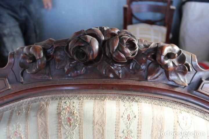 Antigüedades: sofa y sillón estilo Luis XV - Foto 7 - 175258265