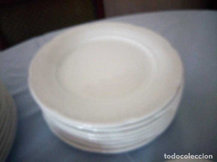Antigüedades: vajilla de porcelana villeroy & boch germany,blanco con dibujos en relieve. - Foto 4 - 175260942