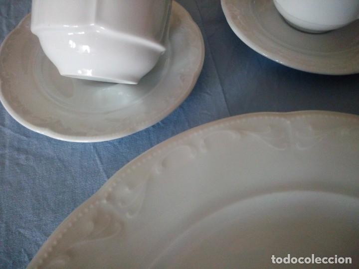 Antigüedades: vajilla de porcelana villeroy & boch germany,blanco con dibujos en relieve. - Foto 9 - 175260942