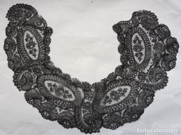 ANTIGUO ENCAJE CHANTILLY S.XIX (Antigüedades - Moda - Encajes)