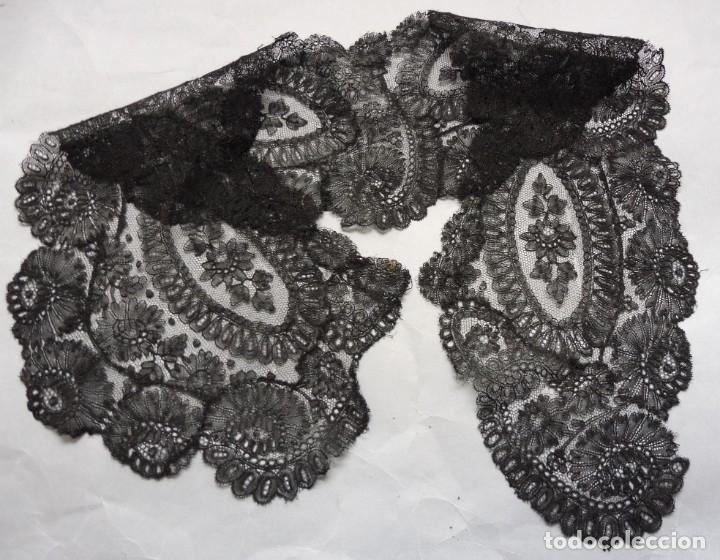 Antigüedades: ANTIGUO ENCAJE CHANTILLY S.XIX - Foto 6 - 175261557