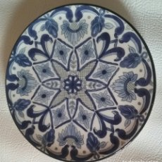 Antigüedades: PLATO CERAMICA CON MOTIVOS FLORALES. Lote 175266338