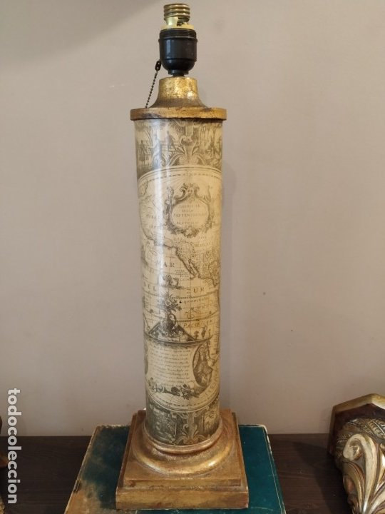 LÁMPARA FASE MAPA MUNDI - PIERO FORNASETTI STYLE - MAPA - ÚNICA COLECCIONISTAS (Antigüedades - Iluminación - Lámparas Antiguas)