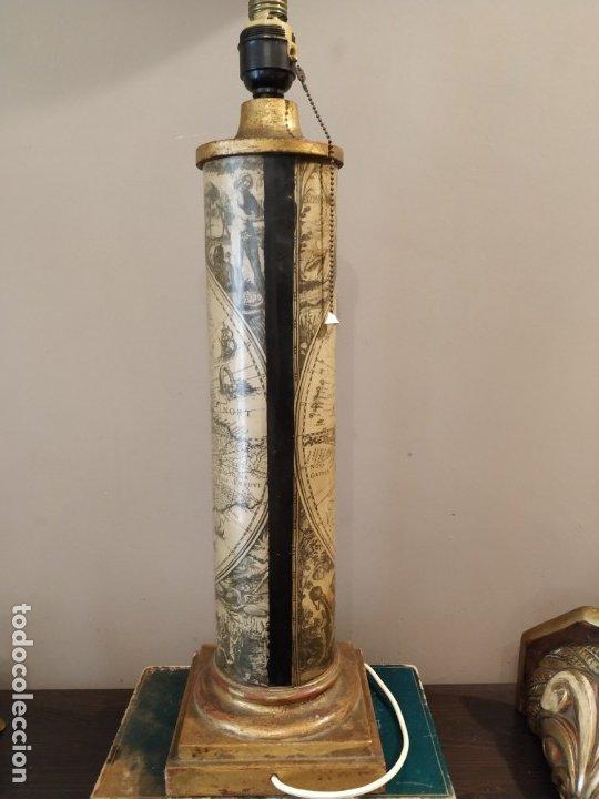 Antigüedades: LÁMPARA FASE MAPA MUNDI - PIERO FORNASETTI STYLE - MAPA - ÚNICA COLECCIONISTAS - Foto 3 - 175269098