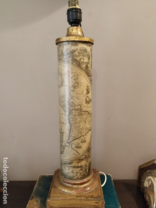 Antigüedades: LÁMPARA FASE MAPA MUNDI - PIERO FORNASETTI STYLE - MAPA - ÚNICA COLECCIONISTAS - Foto 4 - 175269098