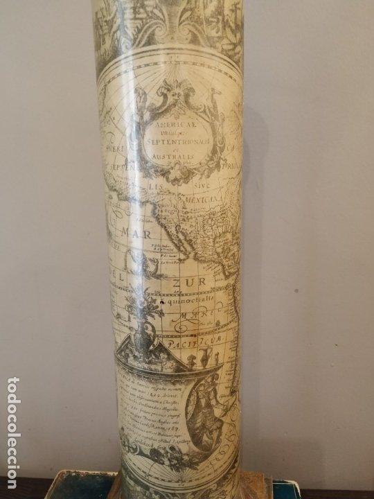 Antigüedades: LÁMPARA FASE MAPA MUNDI - PIERO FORNASETTI STYLE - MAPA - ÚNICA COLECCIONISTAS - Foto 6 - 175269098
