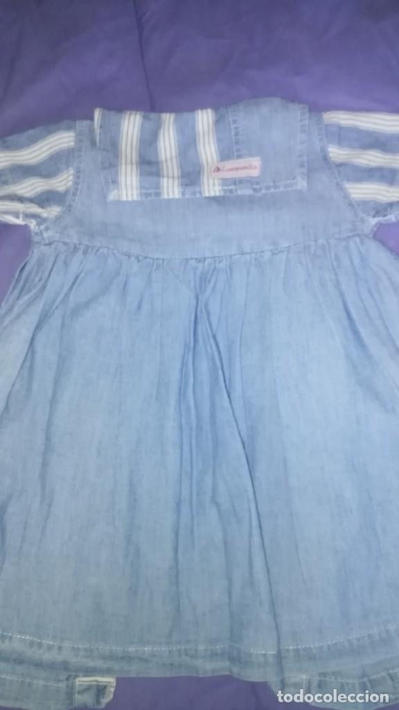 Antigüedades: Vestido vaquero para niñas o muñecas - Foto 4 - 175269153