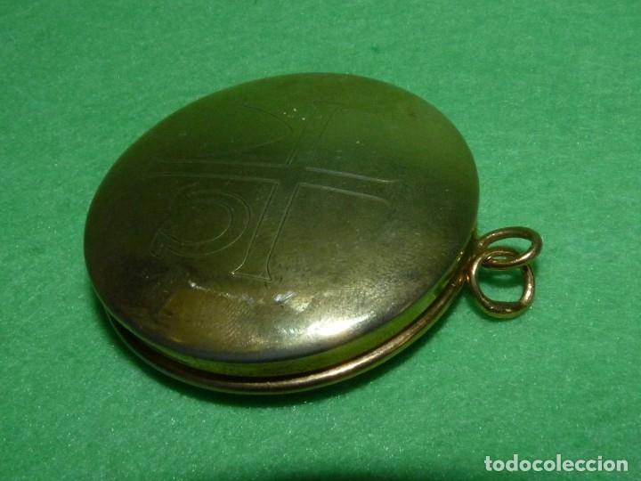Antigüedades: BONITO HOSTIARIO PÍXIDE PORTAVIÁTICO DE BOLSILLO OBJETO LITURGICO - Foto 3 - 175291945