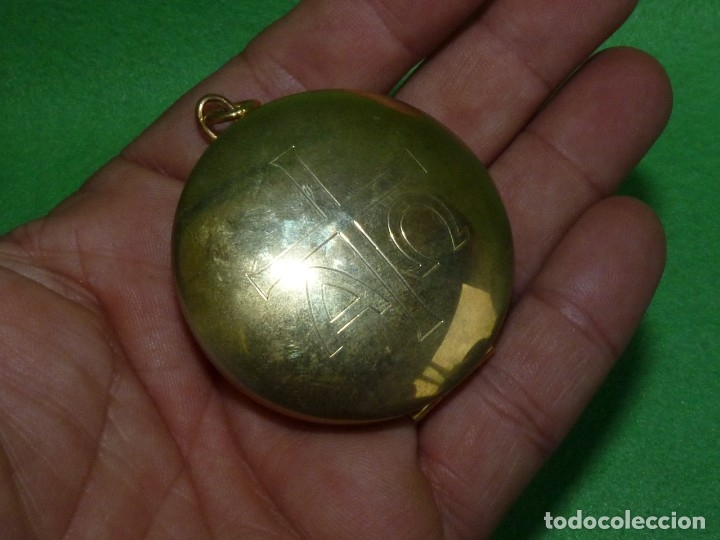 Antigüedades: BONITO HOSTIARIO PÍXIDE PORTAVIÁTICO DE BOLSILLO OBJETO LITURGICO - Foto 4 - 175291945