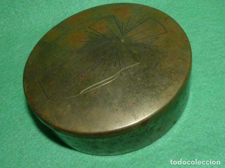 Antigüedades: GRAN HOSTIARIO PÍXIDE PORTAVIÁTICO PARA LITURGIAS COLECCION - Foto 2 - 175292877