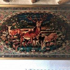 Antigüedades: ANTIGUO TAPIZ ATERCIOPELADO, AÑOS 60, CON O SIN MARCO. Lote 175298332