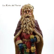 Antigüedades: SANTA CLAUS - PAPÁ NOEL - FIGURA DE RESINA - NAVIDAD. Lote 175323317