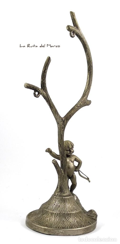 Antigüedades: Portarretratos de metal - Cupido - Portafotos - Árbol - Foto 3 - 175328112