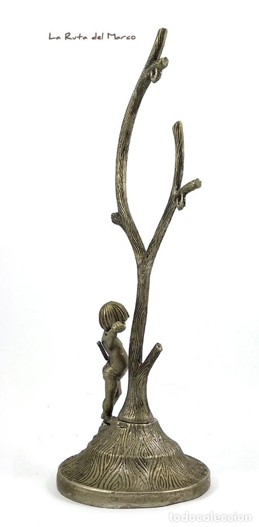 Antigüedades: Portarretratos de metal - Cupido - Portafotos - Árbol - Foto 4 - 175328112