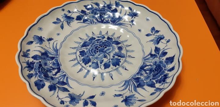 FUENTE SEMI PORCELANA DELFT SXIX (Antigüedades - Porcelana y Cerámica - Holandesa - Delft)