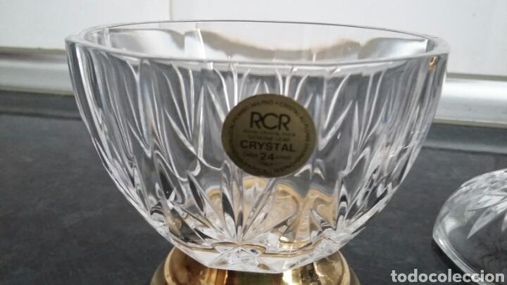 Antigüedades: Bombonera en cristal tallado italiano RCR. - Foto 4 - 175340435