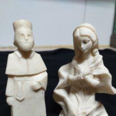 Antigüedades: FIGURA CURA Y VIRGEN. Lote 175355590