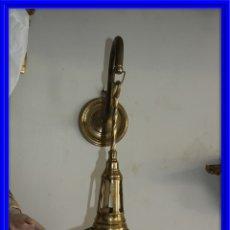Antigüedades: CANDIL DE BRONCE DE PARED. Lote 175357604