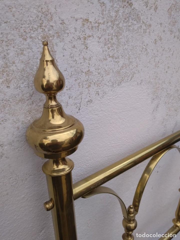 Antigüedades: CABECERO PARA CAMA DE 90 EN DORADO - Foto 4 - 175359998