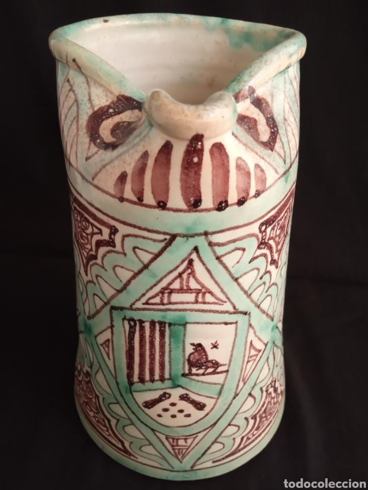 GRANDE JARRA CERÁMICA VIDRIADA ARTE MUDEJAR.FIRMA PUNTER.23'5 CMS ALTO X 15'5 CMS DIÁMETRO. (Antigüedades - Porcelanas y Cerámicas - Teruel)