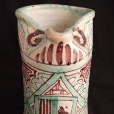 Antigüedades: GRANDE JARRA CERÁMICA VIDRIADA ARTE MUDEJAR.FIRMA PUNTER.23'5 CMS ALTO X 15'5 CMS DIÁMETRO.. Lote 175388482