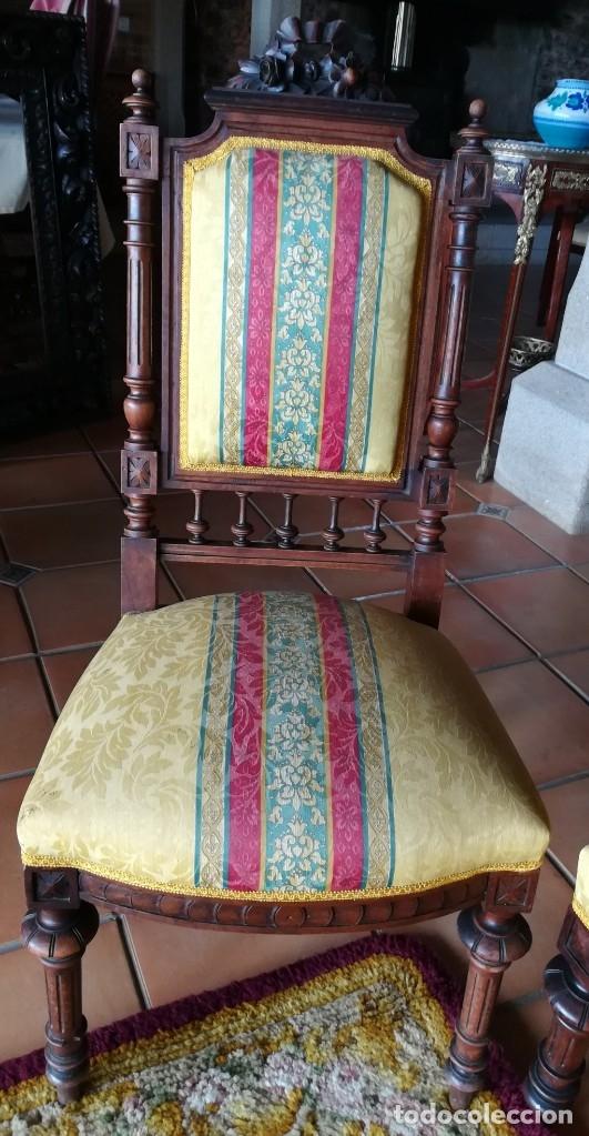 Antigüedades: Sofá tresillo y dos sillas - Foto 6 - 175391118
