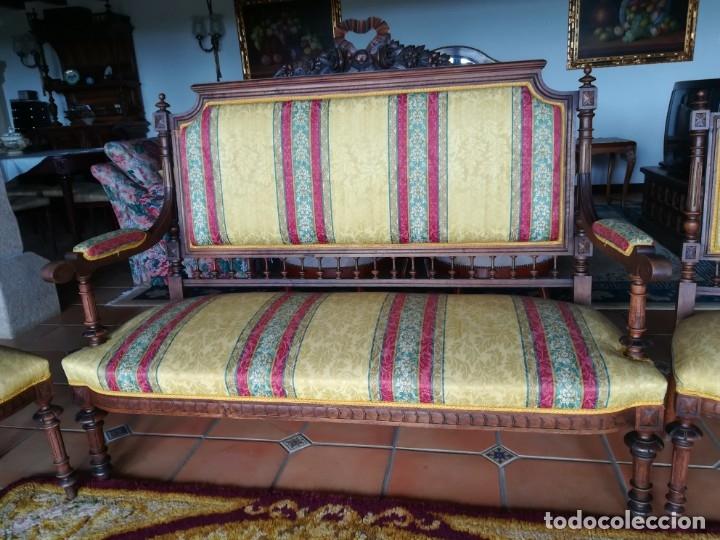 Antigüedades: Sofá tresillo y dos sillas - Foto 8 - 175391118