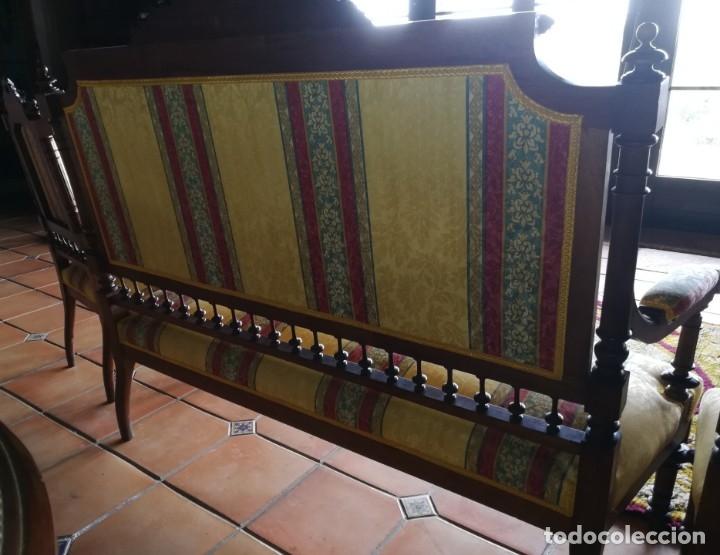 Antigüedades: Sofá tresillo y dos sillas - Foto 9 - 175391118