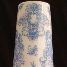 Antigüedades: PRECIOSO JARRÓN CATALÁN DE OPALINA.FIRMA J.CERVERA BARCELONA.AÑOS 30.ALTO 30 CMS X 9 DE DIÁMETRO.. Lote 175391482