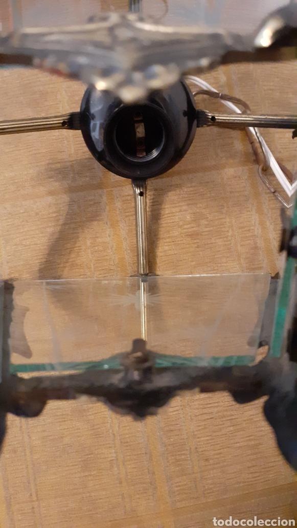 Antigüedades: LAMPARA FAROL. VIDRIO Y BRONCE. ORIGINAL AÑOS 40. - Foto 9 - 175392669