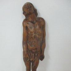 Antigüedades: PRECIOSO CRISTO YACENTE - ESCULTURA RENACENTISTA - ESCUELA ESPAÑOLA -TALLA DE MADERA - S. XVII. Lote 175395492