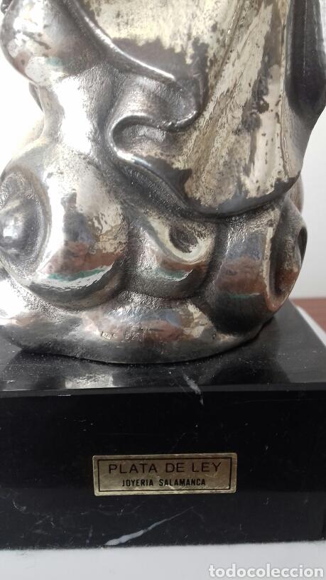 Antigüedades: Bonita virgen con niño Plata de Ley autentica 925 Gran tamaño - Foto 3 - 175407583