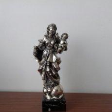Antigüedades: BONITA VIRGEN CON NIÑO PLATA DE LEY AUTENTICA 925 GRAN TAMAÑO. Lote 175407583