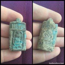 Antigüedades: RARO AMULETO EGIPCIO ANTIGUO, FAYENZA. 300 BC. Lote 175419694