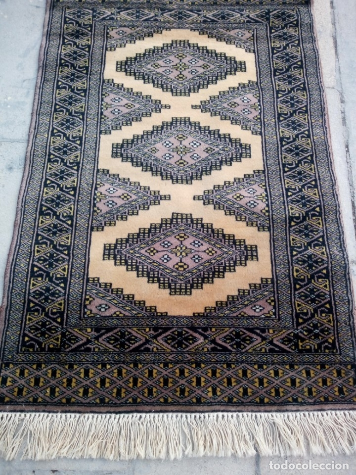 Antigüedades: Antigua alfombra persa de lana hecha a mano en tonos ocres.alfombra fina - Foto 3 - 175455159