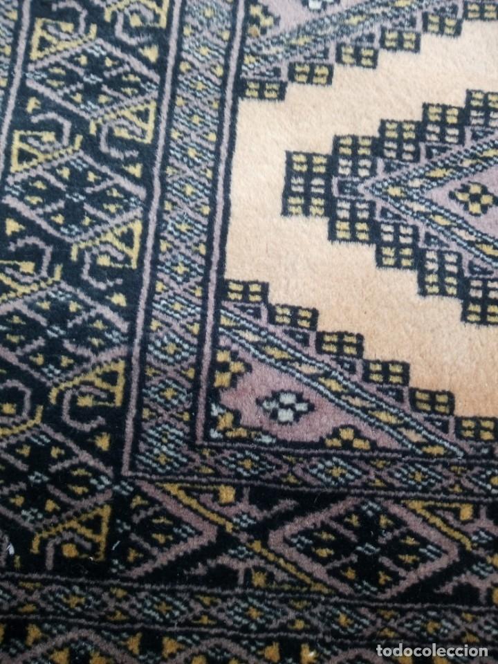 Antigüedades: Antigua alfombra persa de lana hecha a mano en tonos ocres.alfombra fina - Foto 4 - 175455159