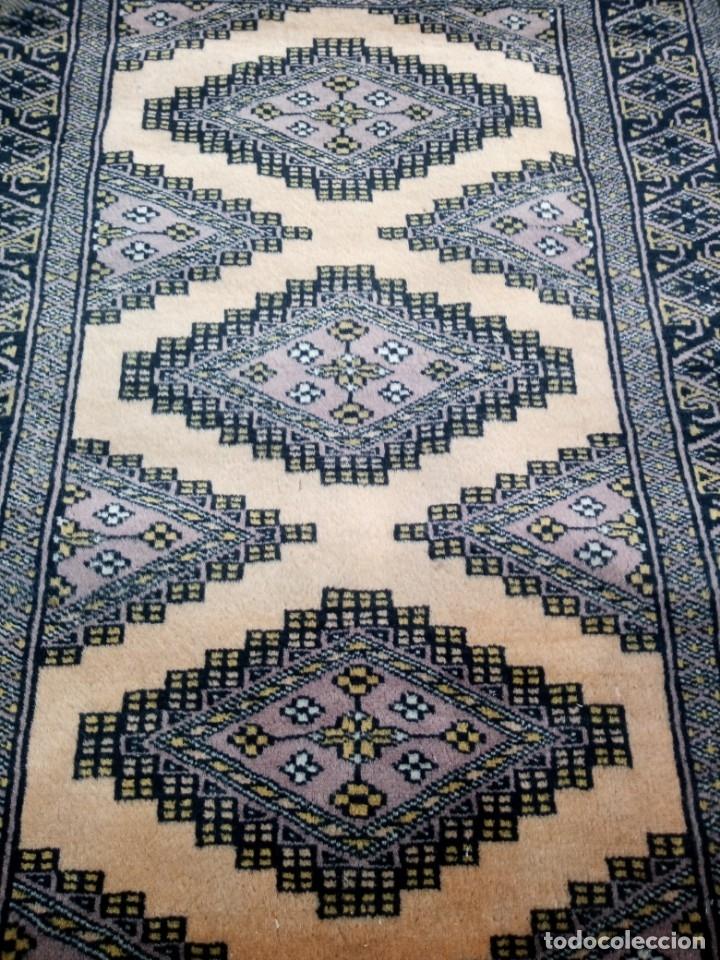 Antigüedades: Antigua alfombra persa de lana hecha a mano en tonos ocres.alfombra fina - Foto 5 - 175455159